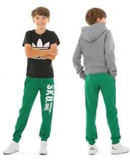 Wiosenne spodnie dresowe 116-158 KRP398 Zielony SK8ING