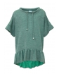 Dzianinowa bluzka dla dziewczynki 134-170 1SS-04C zielona