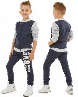Wiosenne spodnie dresowe 116-158 KRP398 Granat SK8ING