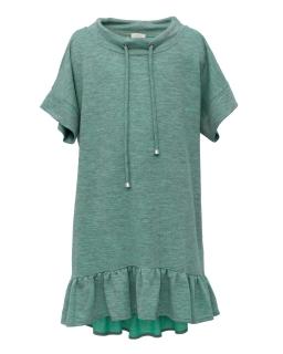 Wakcyjna sukienka z dzianiny 134-170 1SS-06C zieleń