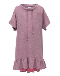 Wakcyjna sukienka z cienkiej dzianiny 134-170 1SS-06B wrzos