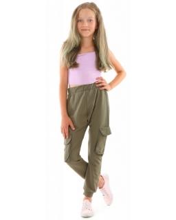 Spodnie dresowe Baggy z kieszeniami 116-158 KRP399 khaki