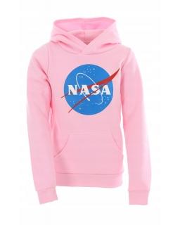 Bluza z kapturem NASA 116-158 KRP364 róż