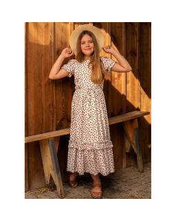 Długa sukienka w wisienki styl boho 134-170 1SS-02B