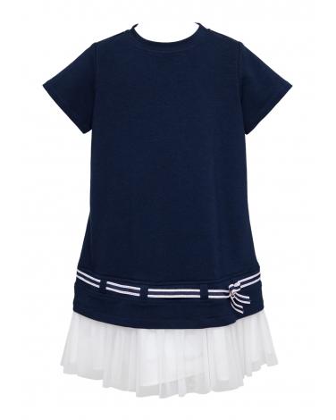 Wakacyjna sukienka z dzianiny 134-170 1SS-06C zieleń