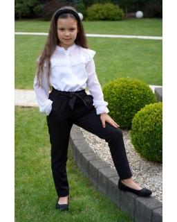 Spodnie z wysokim stanem 134-164 Irys czarny