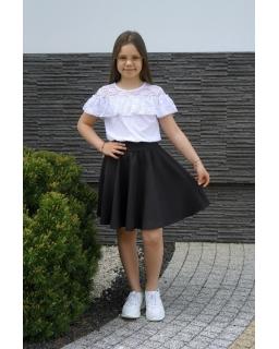 Elegancka szkolna sukienka 128-158 Majka czarny