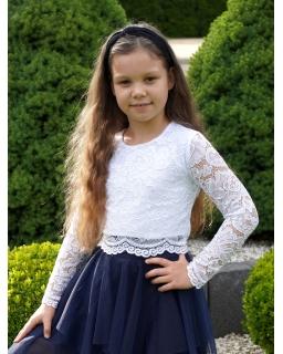 Elegancka koronkowa bluzka 134-164 Lena biel
