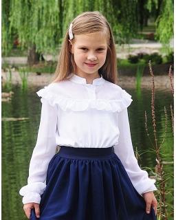 Biała bluzka dla dziewczynki 116-158 Matylda 4 biała