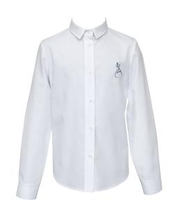 Klasyczna biała koszula z haftem 128-170 1S-117