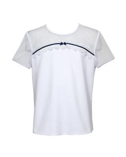 Szkolna bluzeczka z haftem 128-158 1S-122