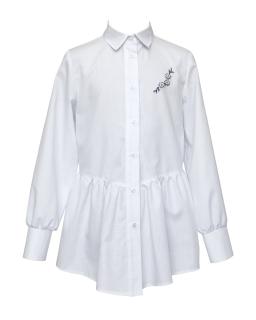 Modna biała koszula z haftem 134-152 1S-118 biały