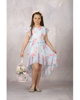 Asymetryczna weselno-letnia sukienka 134-164 Ola