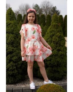 Pastelowa weselno-letnia sukienka 134-164 Ula