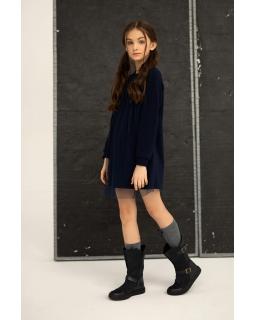 Galowa sukienka dla dziewczynki 128-164 1S-212 granatowa