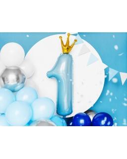 """Balon foliowy na pierwsze urodziny """"1"""" Bal42 niebieski"""