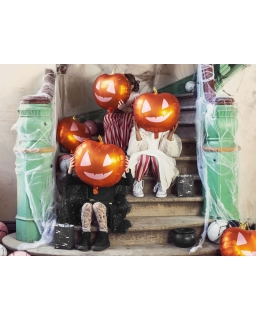 Balon foliowy na Halloween Dynia 40x40 cm BAL54