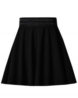 Rozkloszowana spódnica na gumce 128-164 Kasia czarna