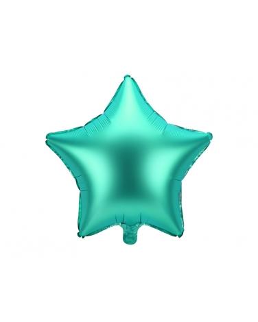 Balon foliowy GWIAZDKA ZIELONA 48cm BAL87