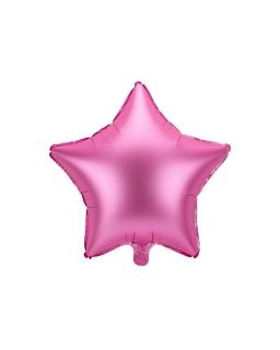 Balon foliowy GWIAZDKA RÓŻOWA 48cm BAL90