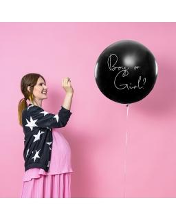 Balon Balon Gender Reveal - Dziewczynka różowe konfetti BAL91