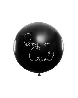 Balon Balon Gender Reveal - Chłopiec niebieskie konfetti BAL92