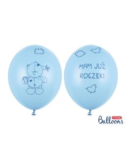 Zestaw 6sztuk Balony Mam już Roczek BAL93 niebieskie