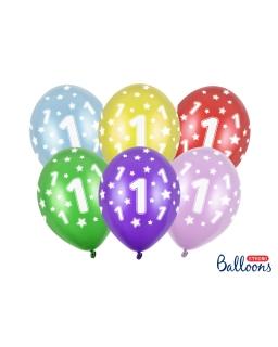 Zestaw 6sztuk Balony na pierwsze urodziny BAL95