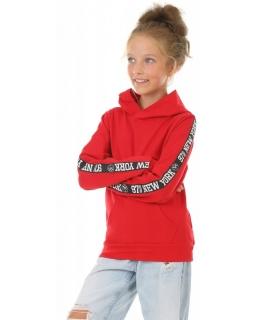 Bluza z kapturem NEW YORK KRP409 czerwony