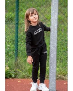 Dziewczęcy komplet dresowy 128-158 D-27 czarny