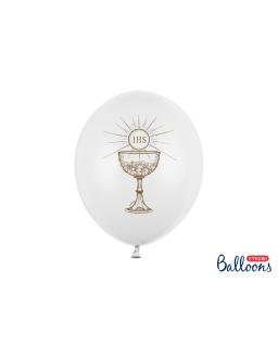 Balony komunijne ZŁOTY KIELICH zestaw 6 szt BAL104