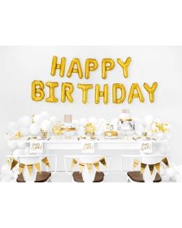 Balony urodzinowe Happy Birthday BAL106 złoty