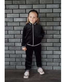 Welurowy dresik dla najmłodszych 98-128 Suzi czarny
