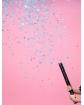 Tuba strzelająca konfetti niebieskie kółka DK05 60 cm