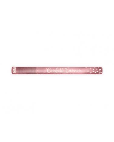 Tuba strzelająca konfetti różowe serca DK06 60 cm