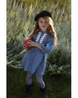 Muślinowa sukienka dla dziewczynki 110-134 Harper niebieska