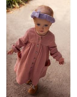 Dziewczęca sukienka typu oversize 80-110 Esme brązowa