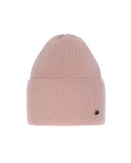 Modna przejściowa czapka w prążek AGB/4839 róż