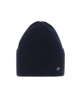 Modna przejściowa czapka w prążek AGB/4839 czarna