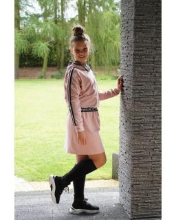 Sukienka dresowa z kapturem 134-164 RNX03 różowa