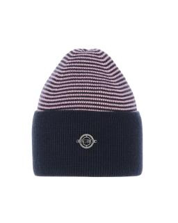 Uniwersalna zimowa czapka w paski AGB/4812 granat