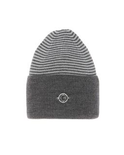 Uniwersalna zimowa czapka w paski AGB/4812 grafit