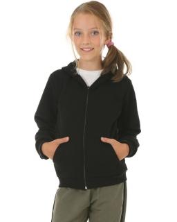 Ciepła bluza dla dziewczynki, czarna, tanie bluzy bawełniane, sklep