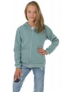 Ciepła bluza dla dziewczynki, niebieska, tanie bluzy bawełniane, sklep