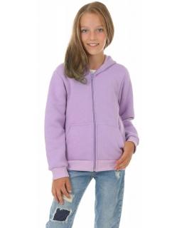 Klasyczna bluza kangurka 116-158 KRP411 liliowa