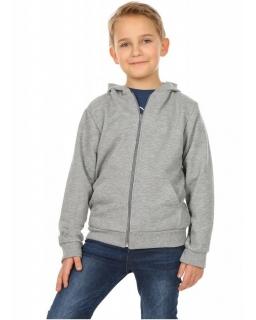 Ciepła bluza dla chłopca, szara, tanie bluzy bawełniane, sklep