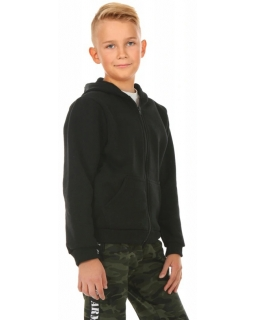 Ciepła bluza dla chłopca, czarna, tanie bluzy bawełniane, sklep