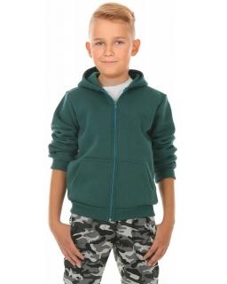 Ciepła bluza dla chłopca, zielona, tanie bluzy bawełniane, sklep