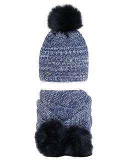 Zimowy komplet czapka i szalik 50-52 AGB/2267 niebieski