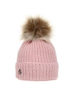 Zimowa czapka z pomponem 52-54 AGB/3162 róż
